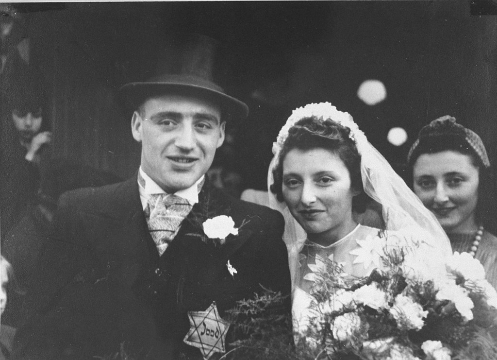 002---Wedding portrait of Salomon Schrijver and his bride who were married in the Jewish quarter of Amsterdam