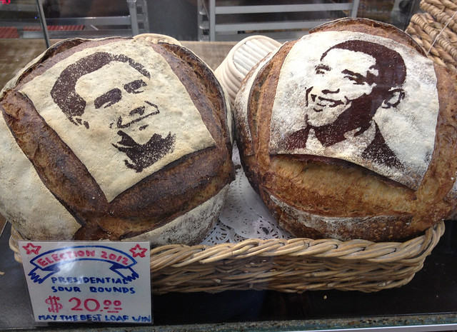 Bakery Stencils Obama Amp Romney Onto Bread May The Best