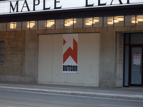 Buttcon sign, Toronto, Ontario