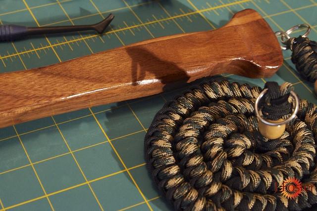 Walnut Handle and Lanyard