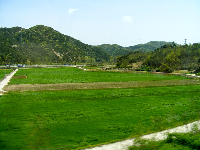 The view from the Mugunghwa train in South Korea