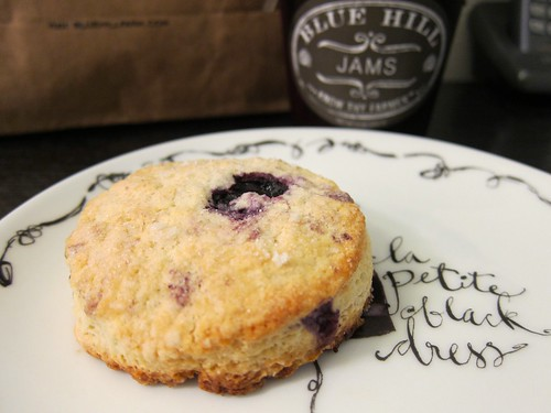 blueberry scone with jam