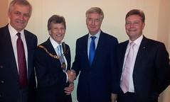 21/10/12 Richard Ashworth MEP, Cllr Richard Parry Mayor of Sevenoaks, Rt Hon Michael Fallon MP