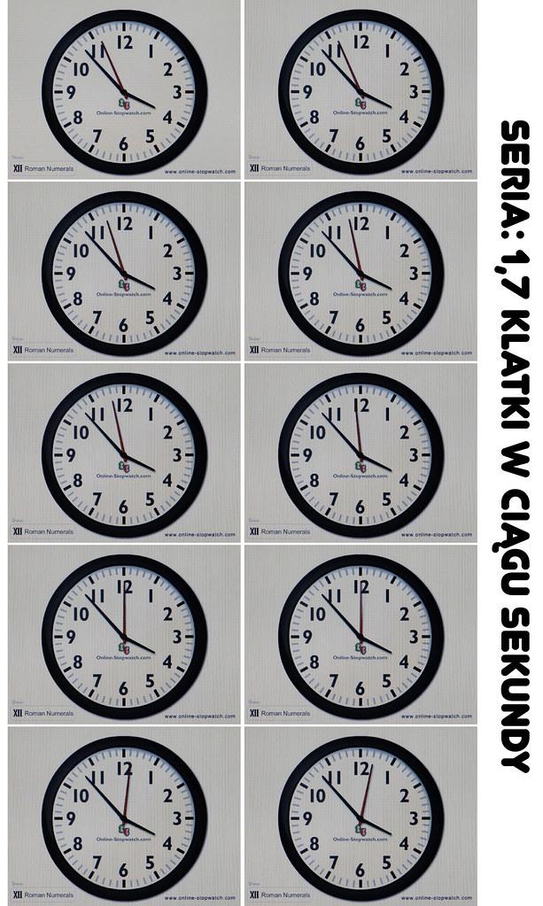 zegar zestawienie