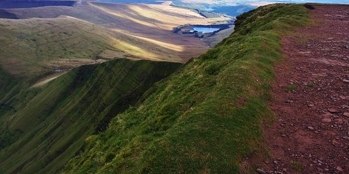 Looking down from Pen y Fan