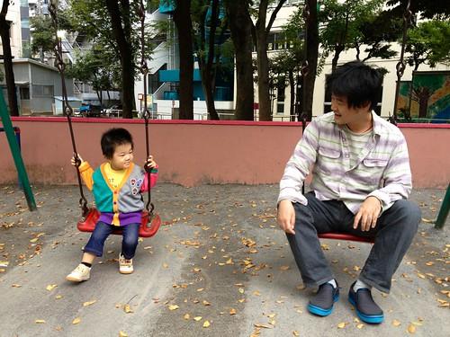 ブランコとらちゃんと語り合う (2012/10/23)