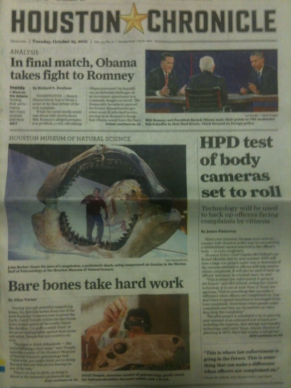 The Morian Hall of Paleontology gets some front-page love