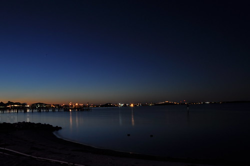 sunset usa beach gulfofmexico water night nikon wasser unitedstates florida pensacolabeach santarosaisland escambiacounty santarosasound d5000 fisherbray