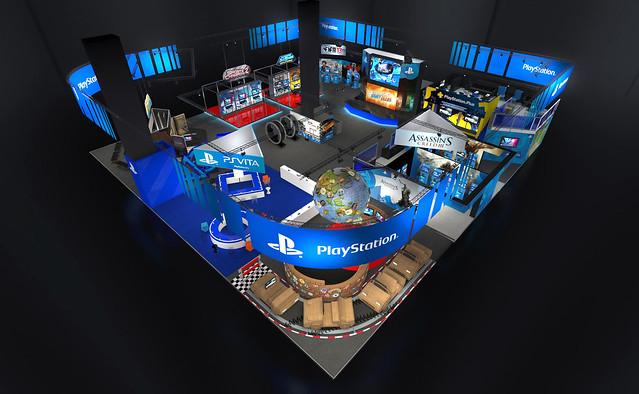 Stand PlayStation à la Paris Games Week 2012 en 3D