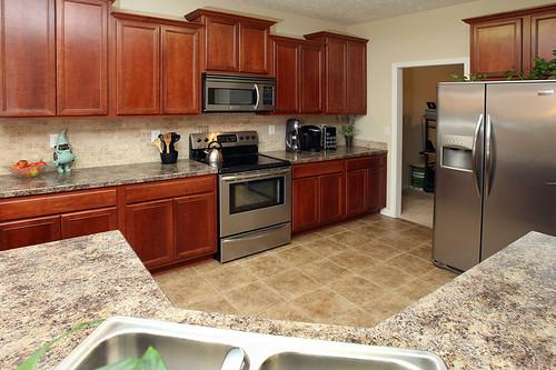 Custom backsplash in kitchen at Flatrock Ridge