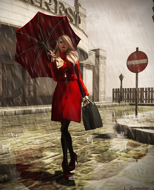 NYU - Trench Coat, Wool Scarlet for Oct FaMESHed