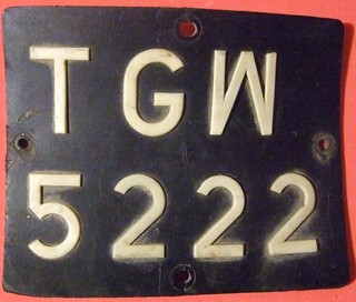 POLAND, TARNOBRZEG 1976-2000 ---MOTORCYCLE LICENSE PLATE, PLASTIC