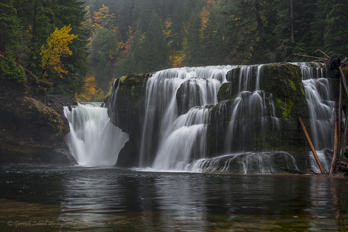Autumn Lower Lewis River Falls by Gaz Photo's