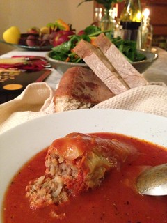 From Budapest, mama Talloczy 's stuffed pepper recipe