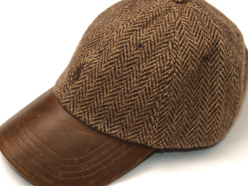 Ralph Lauren / Tweed/Leather Cap