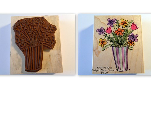 #9 Hero Arts Striped Vase Sketch $6.00