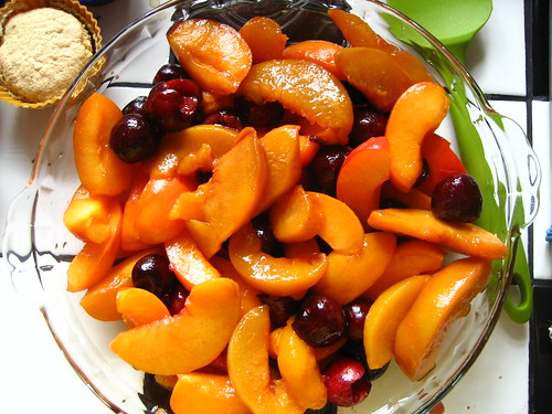stone fruit brown betty