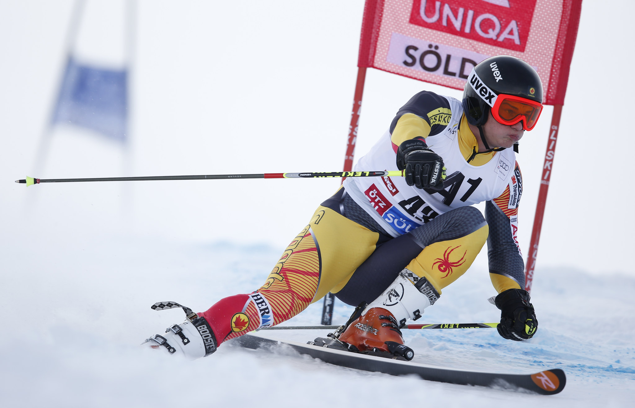 Trevor Philp at the World Cup giant slalom in Soelden, Austria.