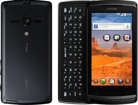 REGZA Phone IS11T 実物大の製品画像