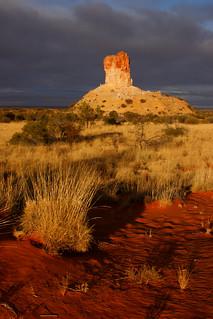 Chambers Pillar at sunrise