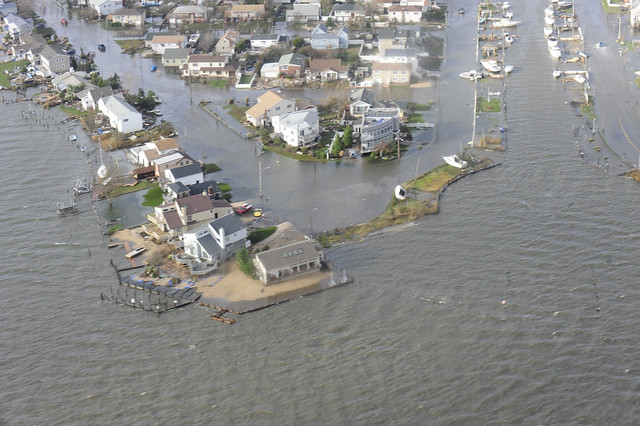 Coast Guard flyover of Long Island post Hurricane Sandy [Image 8 of 9]