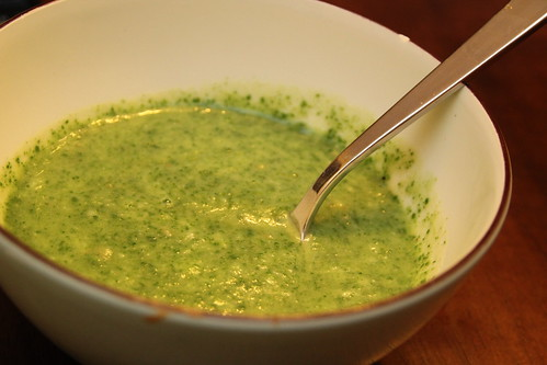 """witches brew"" cheesy spinach soup"