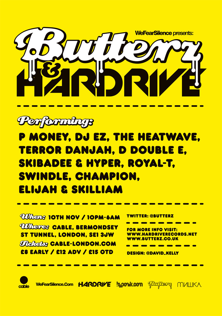 Butterz Hardrive 4 Flyer