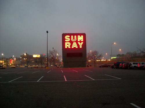 Sun Ray Shopping Center Sign