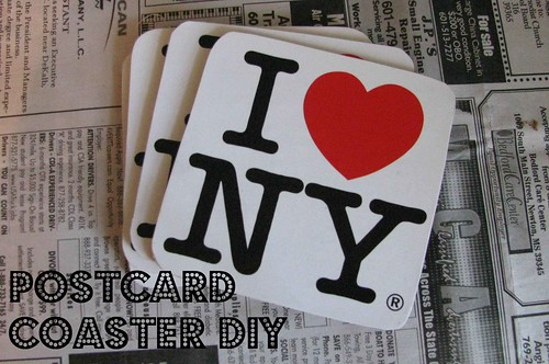 Postcard Coaster Finished Text