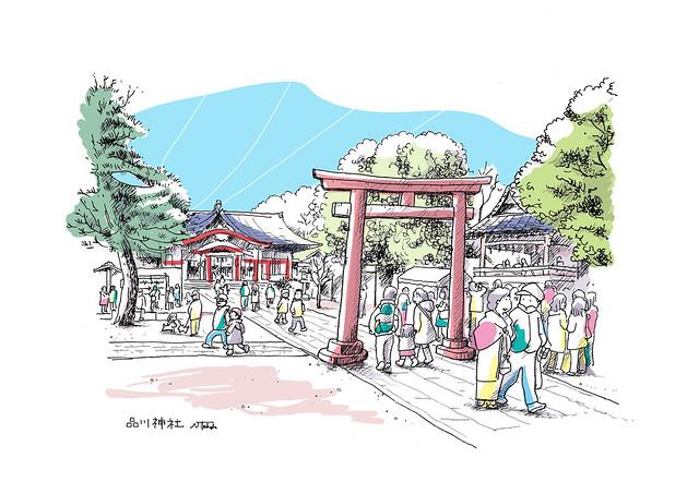 品川神社の正月