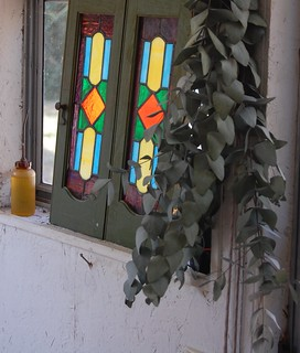 Herbs and stained glass