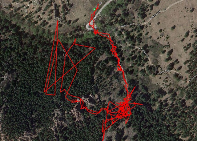 Route - Hiking at Gregory Canyon Amphitheatre, Boulder, CO