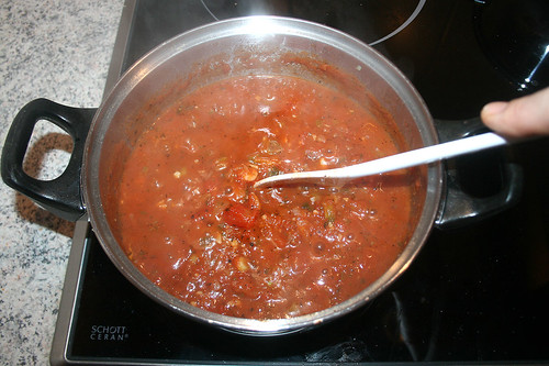 31 - Spaghetti al tonno - Köcheln lassen / Simmer