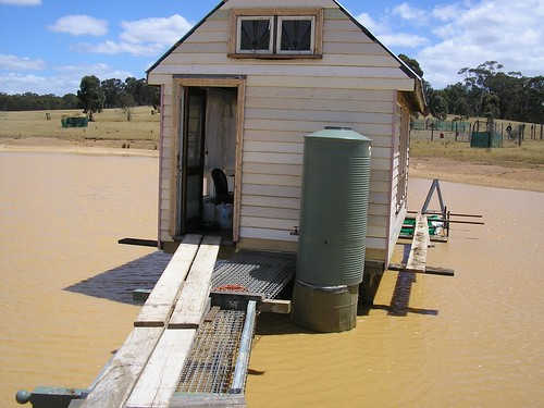 water tank at the front of lakehouse