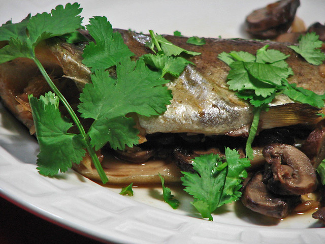 Oven-Steamed Trout With Ginger