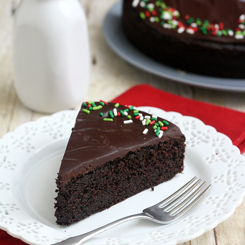 The Easiest Glazed Chocolate Cake