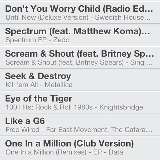 Working on a new for 2013 Running Songs Playlist! Need some tunes for my 12-miler tomorrow! cc: @bringingupburns