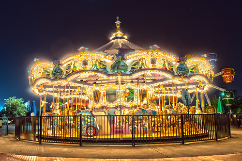 carousel at night by DigiDreamGrafix.com
