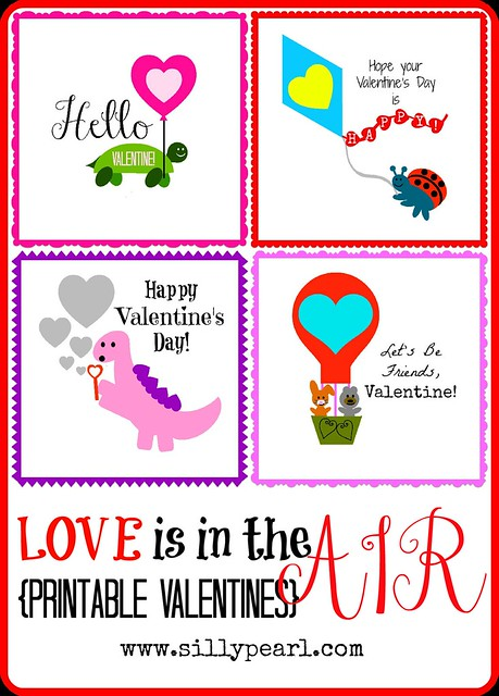 Love is in the Air Printable Valentines - The Silly Pearl