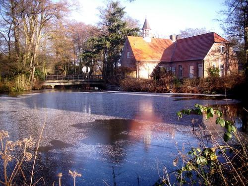 winter lake see cafe barmstedt schlossgefängnis