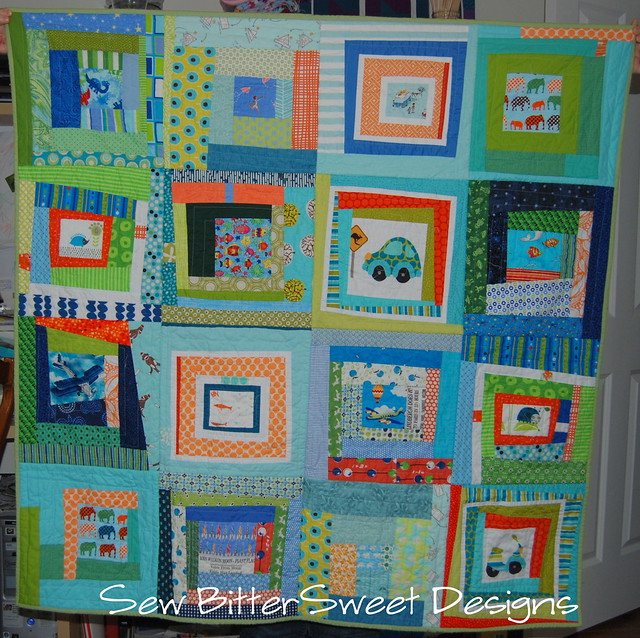Front - Wonky Log Cabin Quilt