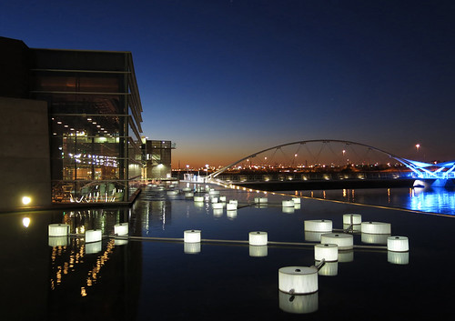 solar art glowing at Tempe Center for the Arts