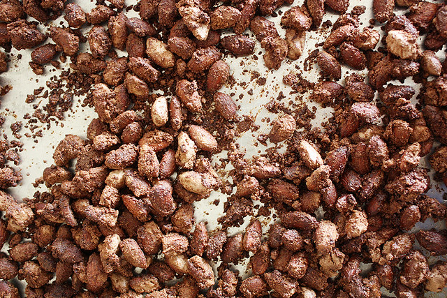 cocoa-roasted almonds // Girl Versus Dough