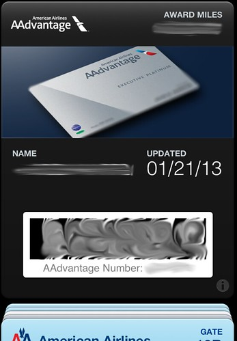 AAdvantage Card in Passbook