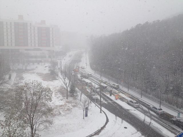 Snowing on SNU