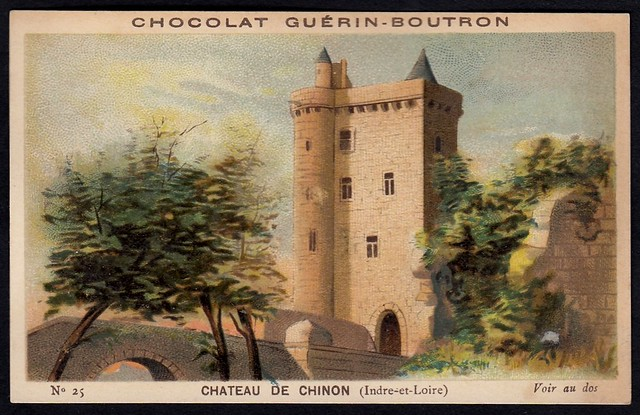 French Tradecard - Chateau De Chinon