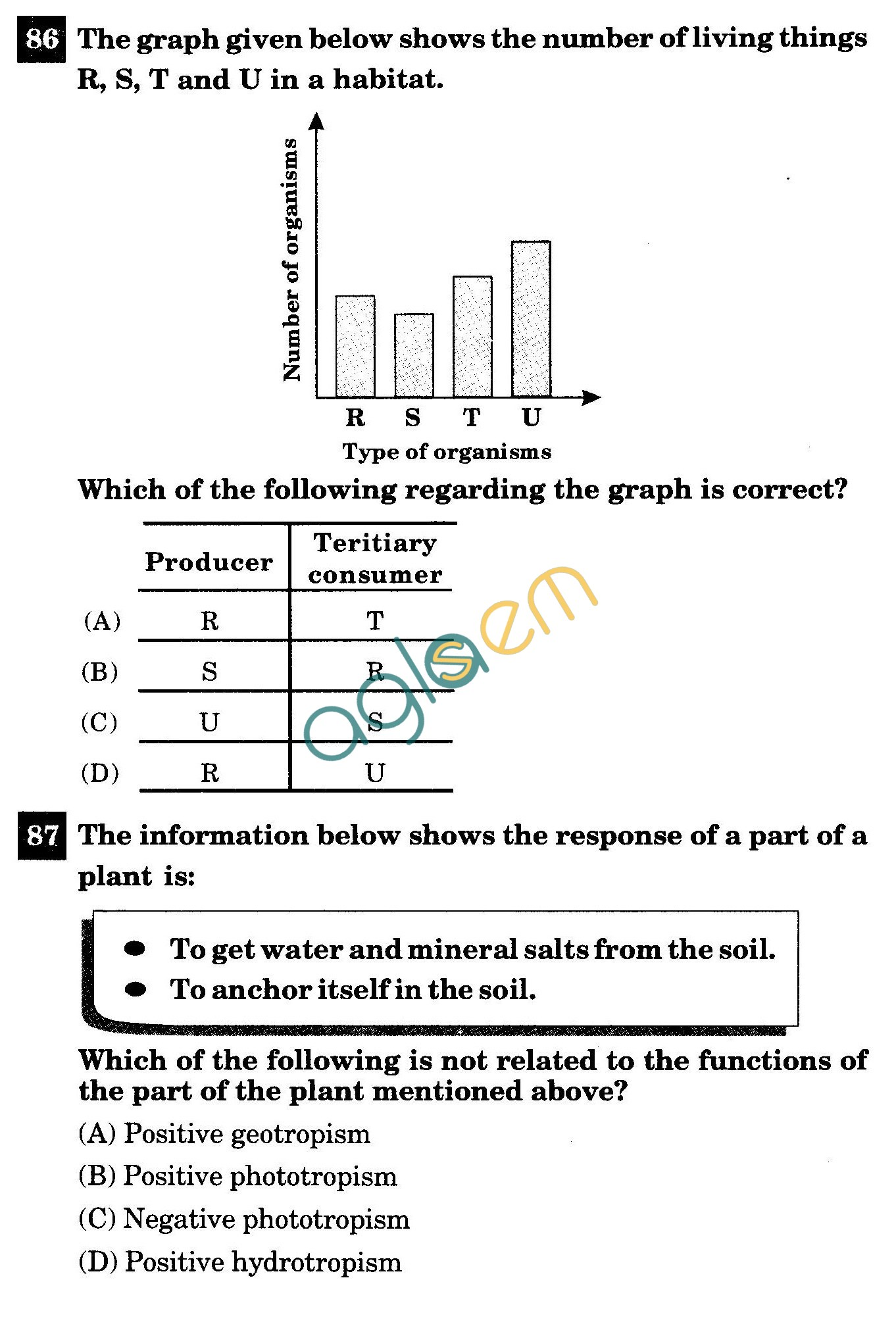 NSTSE 2011 Class X Question Paper with Answers - Biology