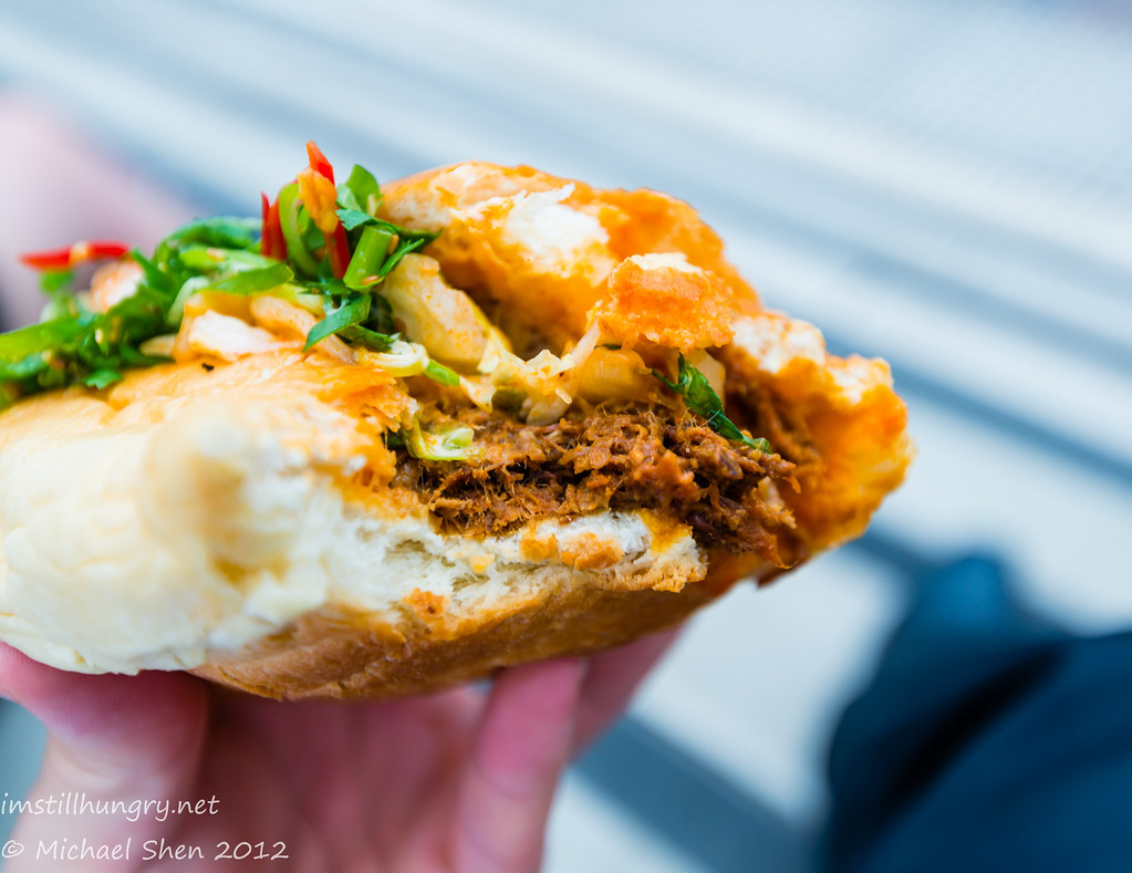 Eat Art Truck - bbq brisket & kimchi slaw roll