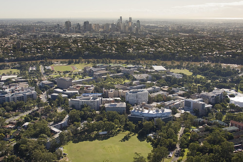 Arial Shot of St Lucia Campus