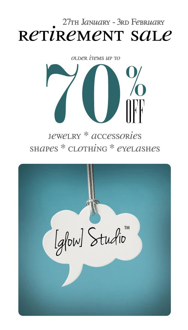 Winter retirement sale at [ glow ] studio!